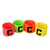 WINOMO Soccer Captain Armband 4PCS Football Elastic Captain Armband Basketball Adjustable Player Bands
