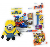 Minions Mega Bloks Building Set with PEZ and Plush Toy and Mega Construx Series 10