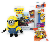Minions Mega Bloks Flying Hot Dogs Building Set with PEZ and Plush Toy and Mega Construx Series 10