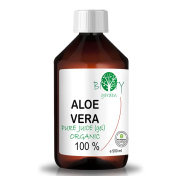 biOty garden Organic Aloe Vera Juice 99.99% Cold-pressed, genuine, liquid, without thickeners