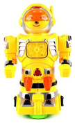 Star Show Robot Battery Operated Bump and Go Toy Robot Figure w/ Flashing Lights, Sounds