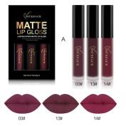 FANOUD 3PCS New Fashion Waterproof Matte Liquid Lipstick