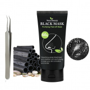 Black Peel off Mask Blackhead Remover Tool- Vena Beauty Activated Charcoal Blackhead Remover Mask Purifying Deep Cleansing Facial Black Mask, Deep Pore Cleanse for Acne, Oil Control,60gram