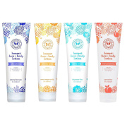 The Honest Company – Natural Hypoallergenic Non-Greasy Face and Body Lotion Variety Pack – 4 Scents, Each 250ml