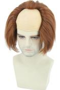 Topcosplay Halloween Costume Wigs Brown Bald Head Wig Adult or Teens