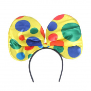 Tinksky Clown Bow Tie Headband Hair Hoop Large Ear Headbands for Cosplay Masquerade Party Favours One Size