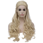 Netgo Long Wavy Braided Blonde Wigs Costume Cosplay Halloween Wigs for Women