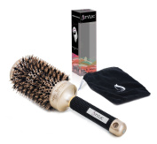 STYLIC Nano Heat Thermal Ionic & Ceramic Hair Brush for Styling, Straightening and Curling, 5.1cm Round Barrel, Protective Case Included
