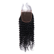 Brazilian Virgin Hair Kinky Curly Lace Closure 4x 4 Free Part with Baby Hair Unprocessed Human Hair Natural Colour