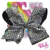 JoJo Siwa Signature Collection Hair Bow - Mermaid Sparcle Silver With Sticker Patch Set Included