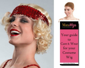 Erica Flapper Colour Blonde - Enigma Wigs Women's 1920s Chicago Dancer Charleston 20s Bundle with Wig Cap, MaxWigs Costume Wig Care Guide