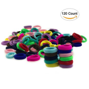 Hair Bands Ties Elastics For Baby Girl, Sc0nni No Crease Ponytail Holders, Small Size No Metal No Aches Durable Hair Accessories Hair Bands Bulk