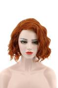 Karlery Women's Short Loose Wave Orange Hair Halloween Cosplay Wig Anime Costume Party Wig