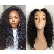 Foxys'Hair Unprocessed 7A Peruvian Virgin Human Hair U Part Wigs For Black Women 150% High Density Deep Wave U Part Wig Natural Colour