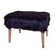 Decor Therapy Faux Fur Stool
