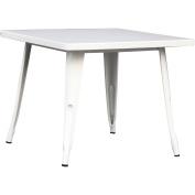 Quinn Metal Table, True White