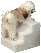 Pet Stairs Ramp for High Beds - Doggy Steps for Small Dogs and Cats Used as a 3 Step Wood Dog Ladder for Tall Couch or Bed