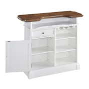 Hawthorne Collections Home Bar in White Oak