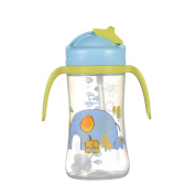 Per Baby Water Bottle With Straw And Handles Leak-Proof Drink Training Bottle For Toddlers Boys Girls 280ml