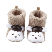 UHBGT Baby Shoes Cute Animal Cotton High Help Girls Boots Winter Soft Sole Infant Non-slip Toddler Shoes for 0-1 Years Old