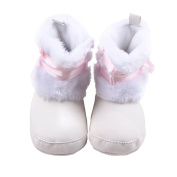 UHBGT Winter Baby Shoes Cotton High Help Bowknot Girls Boots Winter Infant Soft Non-slip Toddler Shoes for 0-1 Years Old
