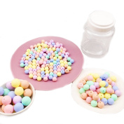 Baby Love Home 200pcs Baby Teether Food Grade Silicone Beads Set Candy Colour DIY Teething Jewellery Accessories Nurse Charm Baby Unique Gifts