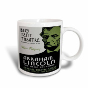 3dRose Big Tent Theatre Abraham Lincoln The Great Commoner Play Poster, Ceramic Mug, 440ml
