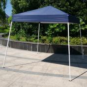 Zimtown 2.4mX2.4m Instant Canopy POP UP Wedding Party Tent Folding Gazebo Beach Canopy W/Carry Bag Blue