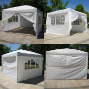 Zimtown 3m x3m Ez POP up Wedding Party Tent Folding Gazebo Beach Canopy Car Tent W/carry Bag White