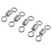 2/0# Fishing Tackle Metal Line to Hook Connector Swivel 5 Pcs