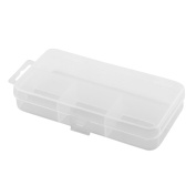 Plastic 4 Compartments Fishing Hook Storage Box Fish Bait Lure Holder Case Clear