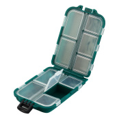 ABS 10 Compartments Fishing Hook Storage Box Fish Bait Lure Holder Case Green
