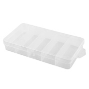 Angling Tackle Plastic 5 Compartments Fishing Lure Bait Storage Box Case Clear