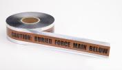 Mutual Industries 17774 7.6cm X 300m Detect Force Main Brown