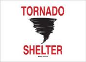 BRADY 90540 Safety Sign, Tornado Shelter, 14x20