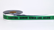 Mutual Industries 17774 7.6cm X 300m Detect Sewer Line Grn