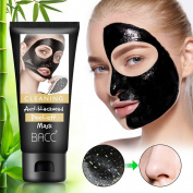 Vassoul Blackhead Remover Mask, Deeply Cleansing Peel Off Mask For Face Nose Acne, Purifying Quality Black Peel off Mask