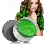Ms.Dear Instant Hair Wax, Hairstyle Cream 130ml, Cyan, Green Hair Pomades, Natural Hairstyle Wax for Men and Women