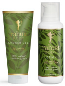 Rahua Body Shower Gel and Lotion Bundle with Hibiscus Extract, Arnica Flower Extract, Sea Salt, Olive Extract, Ungurahua Oil, Eucalyptus Oil, Aloe Vera Leaf and Quinoa Protein, 270ml and 210ml