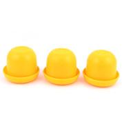 Unique Bargains Pub Bar KTV Casino Lucky Games Plastic Shaker Dice Cup Box Yellow 3pcs