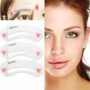 TBWIGA women eyebrow drawing card brow make-up stencil template 3 styles beauty tool