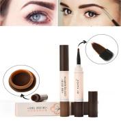 Waterproof Eye Brow Dye Cream Pencil Long Lasting Eyebrow Beauty Makeup Set