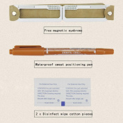 Oksale 1Set 6 Kinds of Magnetic Microblading Makeup Brow Measure Eyebrow Guide Ruler Permanent Tools Eyebrow Makeup