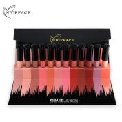 Lanhui 12 Colours/Set New Lip Lingerie Matte Liquid Lipstick Waterproof Lip Gloss Makeup For Women