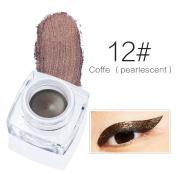 LLguz Cream Eyeliner Fashion Waterproof Makeup Gel Eyeliner With Brush