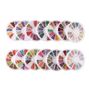 DECORA 14 Case of Nail Art Slice Soft Clay Nail Decoration Perfect for Sticking to Slime, DIY Crafts Assorted 3D Slice