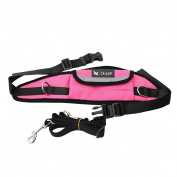Hands Free Dog Leash - Reflective Adjustable Waist Belt With Pouch For 2 Small Medium Large Dogs Walking Running Hiking