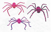Set of 3 Friendly 50cm Pink Spiders w Poseable Legs ~ Fabric and Foam