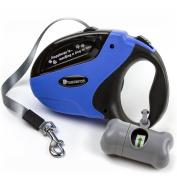 Beastron BP-02 Retractable Dog Leash/4.9m Extra Long Nylon Ribbon Walking Leash for Medium to Large Dogs