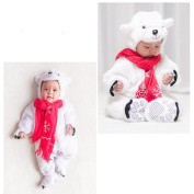 TRENDINAO Baby Toddler Infant Clothes Halloween Animal Polar Bear Bodysuit Footies Playsuit Romper+Hat+Shoes Clothes Outfit Set